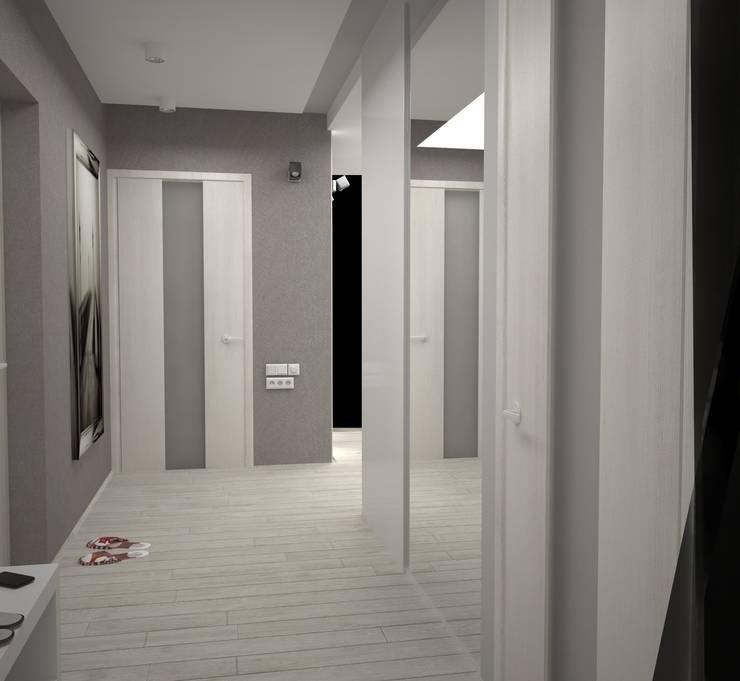Двухкомнатная квартира: Коридор и прихожая в . Автор – DS Fresco