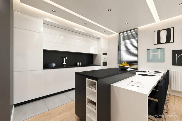 mieszkanie - Kraków, Czyżyny - wizualizacja: styl , w kategorii Kuchnia zaprojektowany przez MIRAI STUDIO