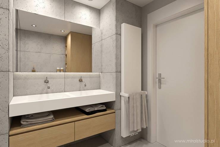 łazienka - Kraków, Nadwiślańska - wizualizacja: styl , w kategorii Łazienka zaprojektowany przez MIRAI STUDIO,