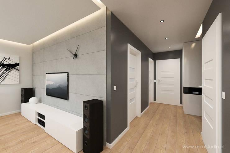 mieszkanie – Kraków, Czyżyny – wizualizacja: styl , w kategorii Korytarz, przedpokój zaprojektowany przez MIRAI STUDIO