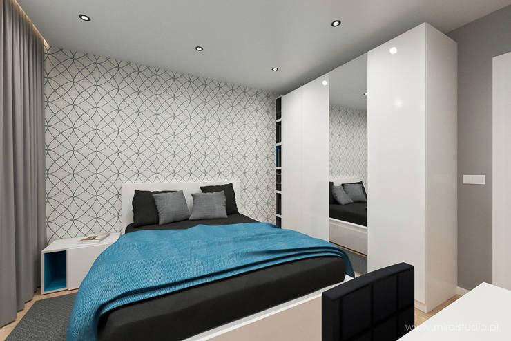 mieszkanie – Kraków, Czyżyny – wizualizacja: styl , w kategorii Sypialnia zaprojektowany przez MIRAI STUDIO