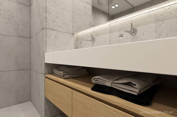 łazienka – Kraków, Nadwiślańska – wizualizacja: styl , w kategorii Łazienka zaprojektowany przez MIRAI STUDIO