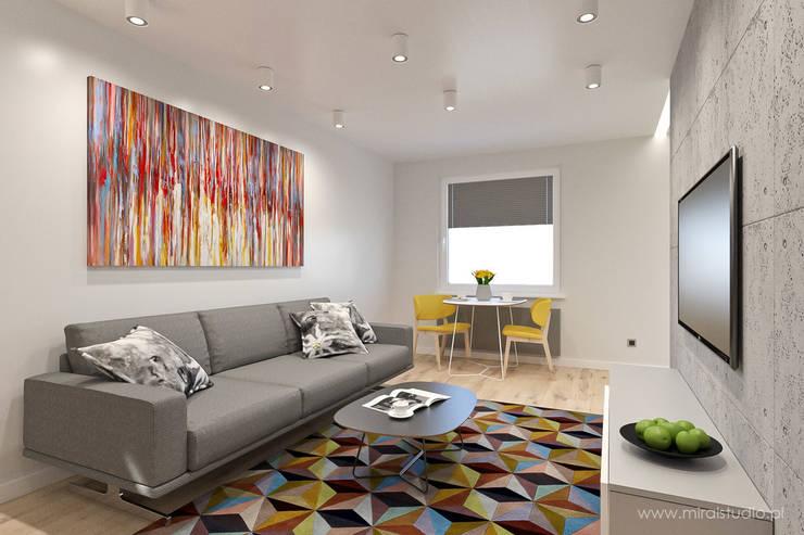 mieszkanie - Zakopane, Słoneczna - wizualizacja: styl , w kategorii Salon zaprojektowany przez MIRAI STUDIO