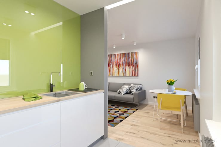 mieszkanie – Zakopane, Słoneczna – wizualizacja: styl , w kategorii Kuchnia zaprojektowany przez MIRAI STUDIO