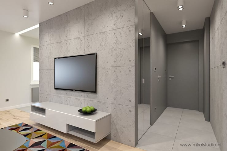 mieszkanie – Zakopane, Słoneczna – wizualizacja: styl , w kategorii Korytarz, przedpokój zaprojektowany przez MIRAI STUDIO