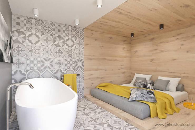 mieszkanie – Zakopane, Słoneczna – wizualizacja: styl , w kategorii Sypialnia zaprojektowany przez MIRAI STUDIO