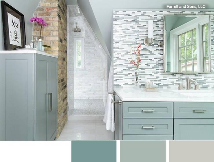 Cuarto de baño relajante con tonos verdosos y claros: Baños de estilo  de La brujula Feng Shui