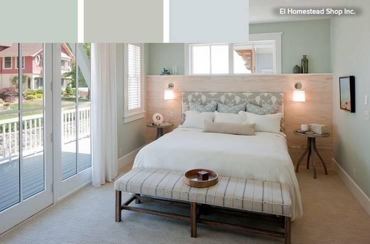 Dormitorio en tonos suaves y relajantes: Dormitorios de estilo  de La brujula Feng Shui