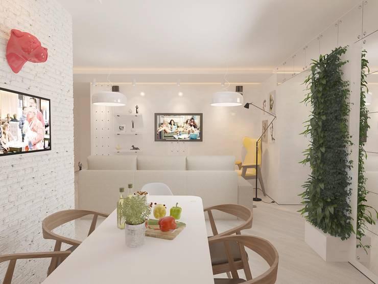 Современная квартира для молодой пары: Кухни в . Автор – Katerina Butenko, Лофт