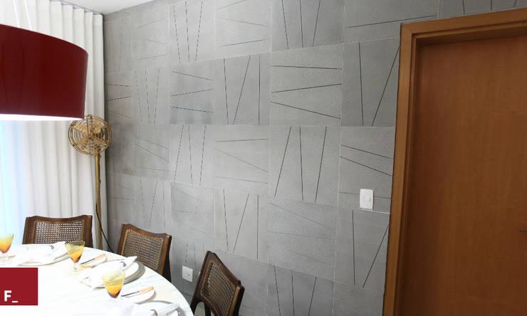 Apartamento M_M: Salas de estar  por Fadel Arquitetura