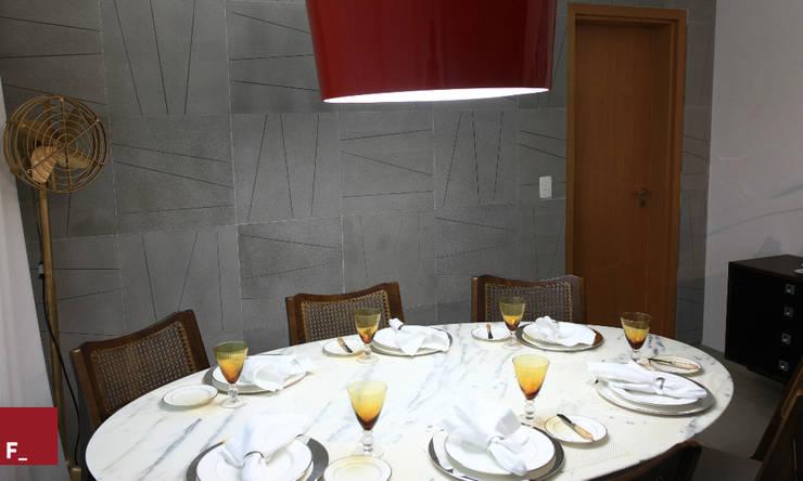 Apartamento M_M: Salas de jantar  por Fadel Arquitetura