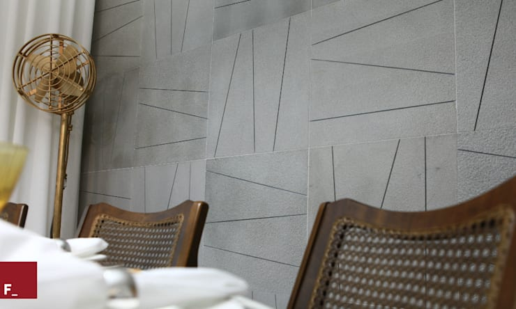 Apartamento M_M: Salas de jantar modernas por Fadel Arquitetura