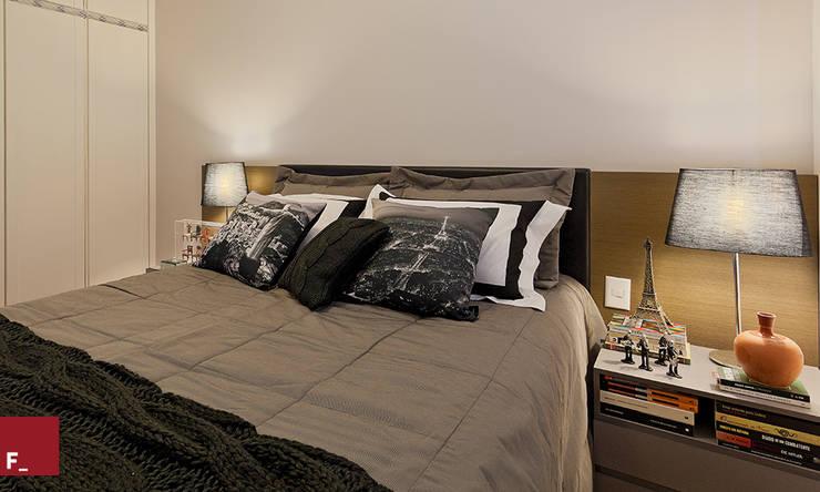 Apartamento D_M: Quartos  por Fadel Arquitetura