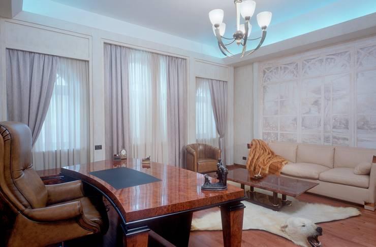 Дом в стиле Zen: Рабочие кабинеты в . Автор – Studio B&L
