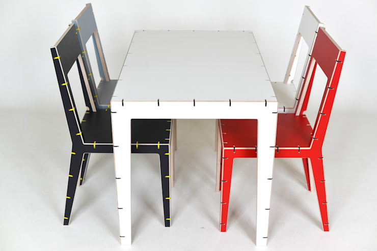 CABLE 6 seater table:  Dining room by AH designs