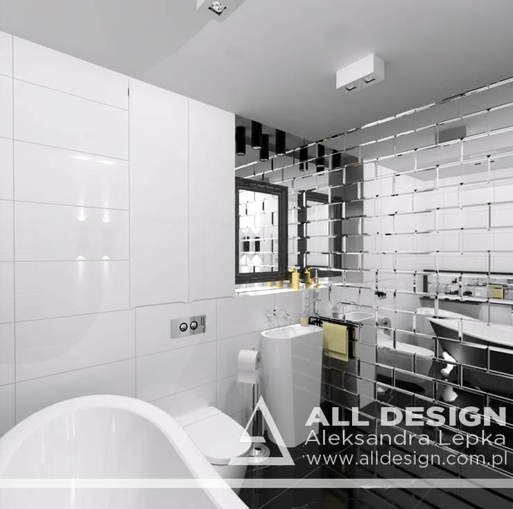 Projekt łazienki: styl , w kategorii Łazienka zaprojektowany przez All Design- Aleksandra Lepka