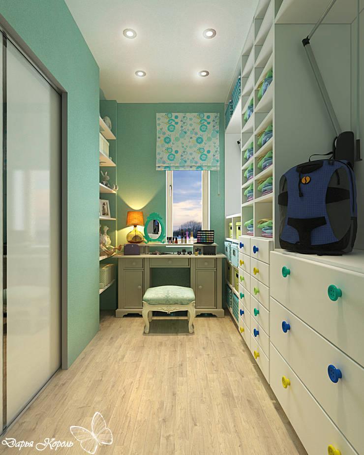Children's room for a girl with dressing room: Гардеробные в . Автор – Your royal design