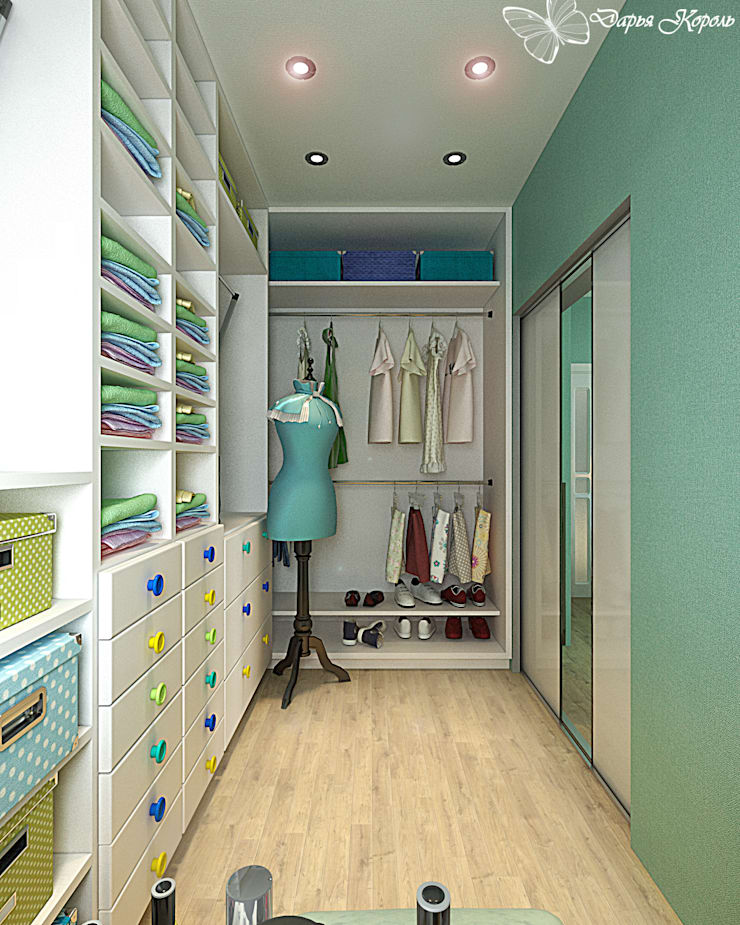 Children's room for a girl with dressing room: Гардеробные в . Автор – Your royal design