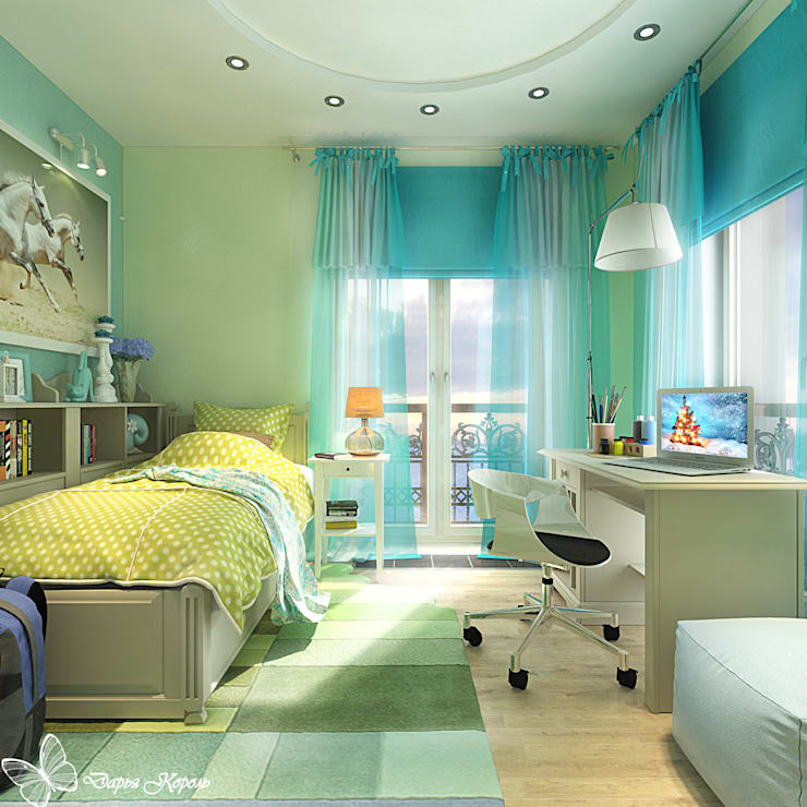 Children's room for a girl with dressing room: Детские комнаты в . Автор – Your royal design