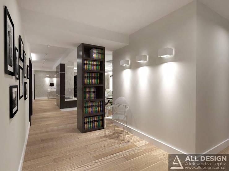 Projekt wnętrz domu w Turku: styl , w kategorii Korytarz, przedpokój zaprojektowany przez All Design- Aleksandra Lepka