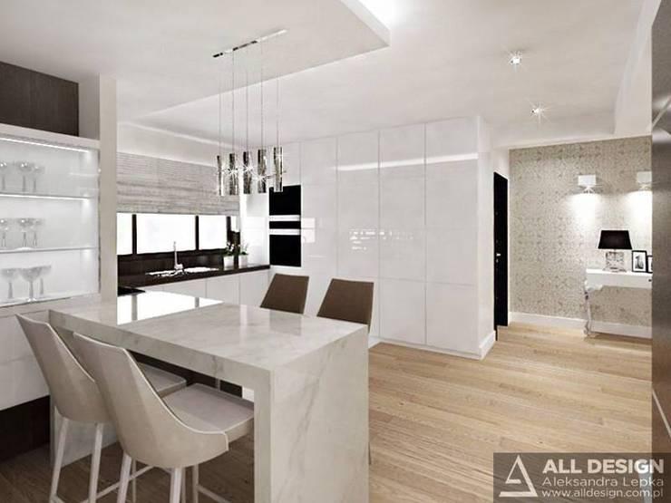 Projekt wnętrz domu w Turku: styl , w kategorii Kuchnia zaprojektowany przez All Design- Aleksandra Lepka