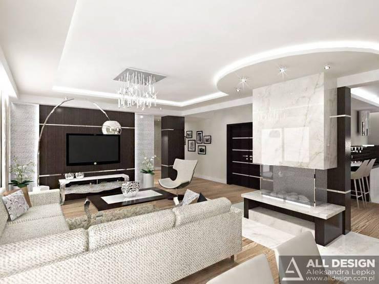 Projekt wnętrz domu w Turku: styl , w kategorii Salon zaprojektowany przez All Design- Aleksandra Lepka