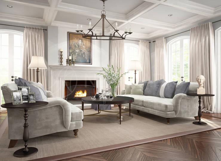 Suffolk Drive Residence, LA, USA: Гостиная в . Автор – Anton Neumark