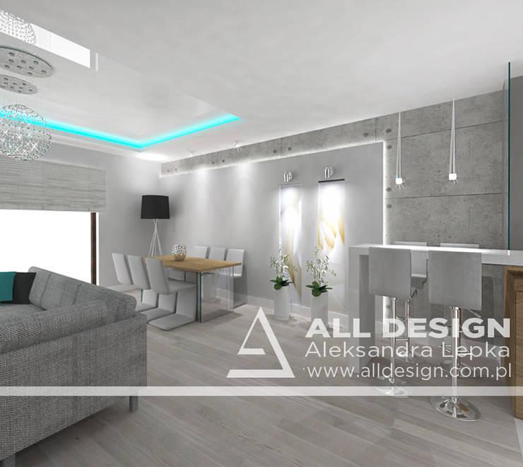 Projekt wnętrz domu w Kaliszu: styl , w kategorii Jadalnia zaprojektowany przez All Design- Aleksandra Lepka