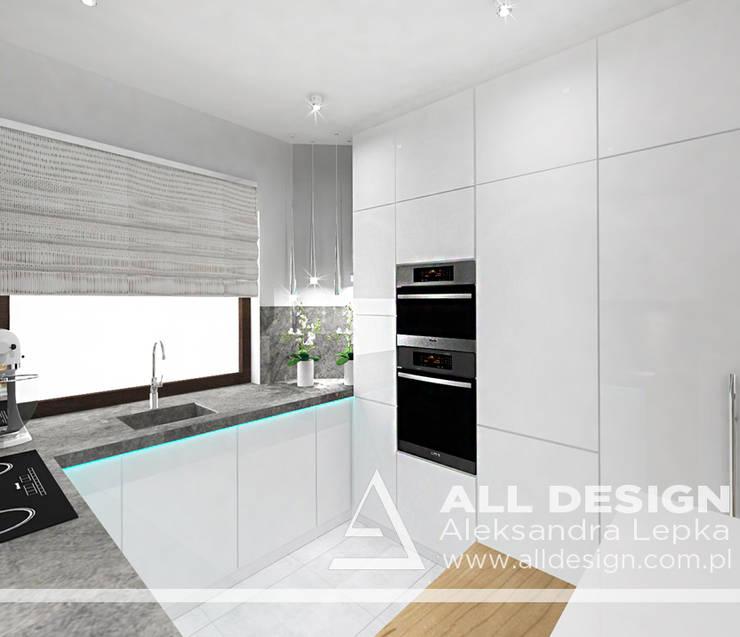 Projekt wnętrz domu w Kaliszu: styl , w kategorii Kuchnia zaprojektowany przez All Design- Aleksandra Lepka