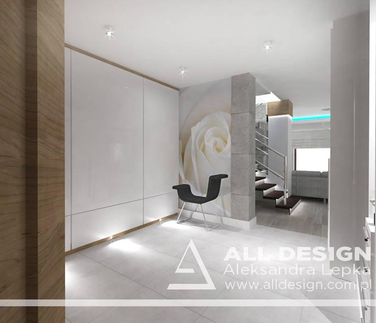 Projekt wnętrz domu w Kaliszu: styl , w kategorii Korytarz, przedpokój zaprojektowany przez All Design- Aleksandra Lepka