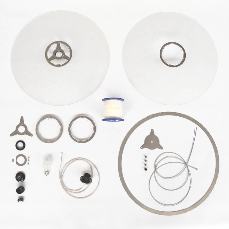 Onderdelen Disque hanglamp: modern  door Marc Th. van der Voorn, Modern