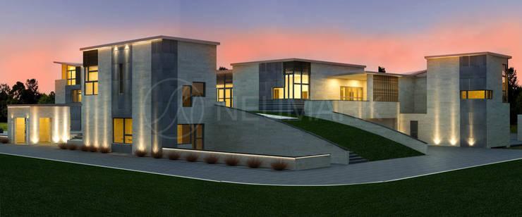 Wheatley Residence, NY, USA: Дома в . Автор – NEUMARK