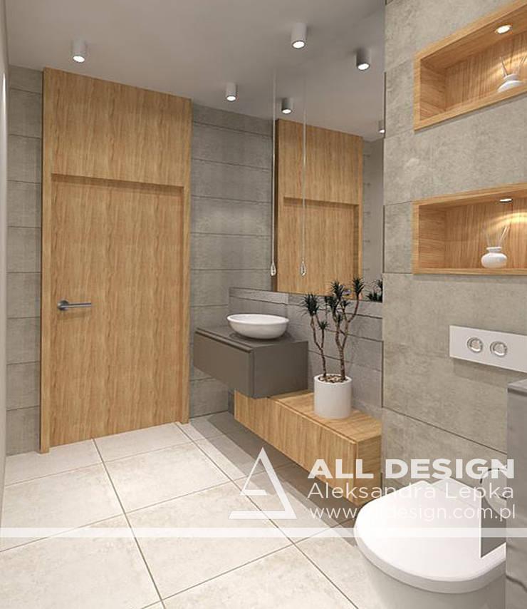 Projekt wnętrz domu w Kaliszu: styl , w kategorii Łazienka zaprojektowany przez All Design- Aleksandra Lepka,