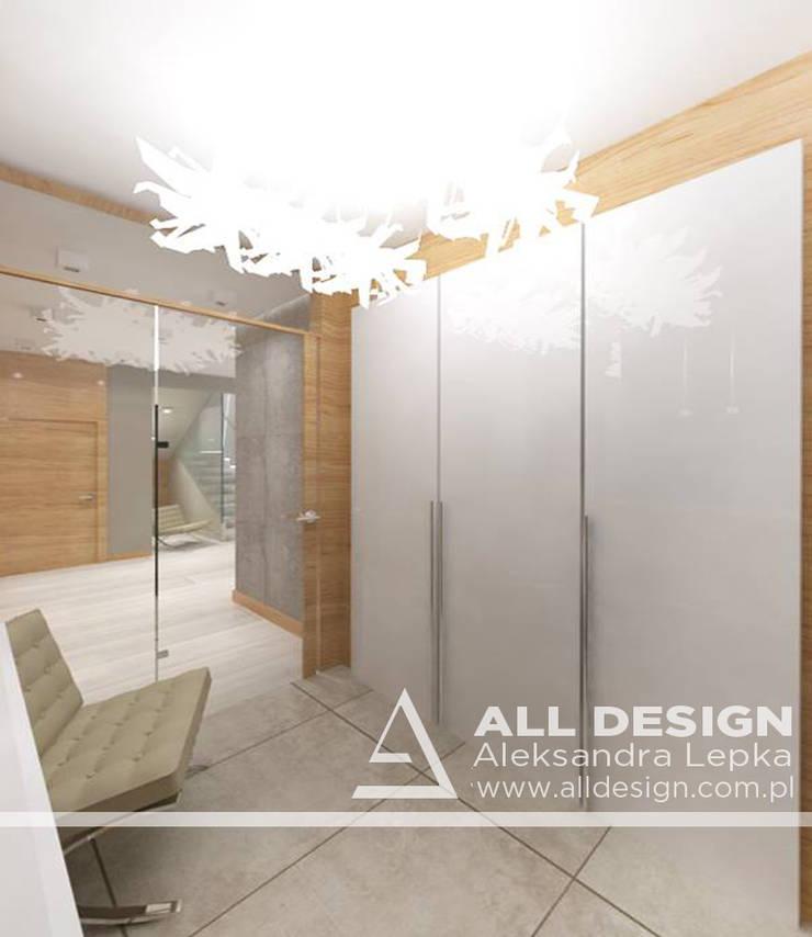 Projekt wnętrz domu w Kaliszu: styl , w kategorii Korytarz, przedpokój zaprojektowany przez All Design- Aleksandra Lepka,