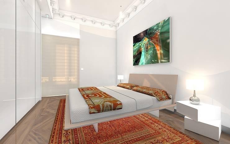 Habitación Principal, cama.: Dormitorios de estilo  de CADOT