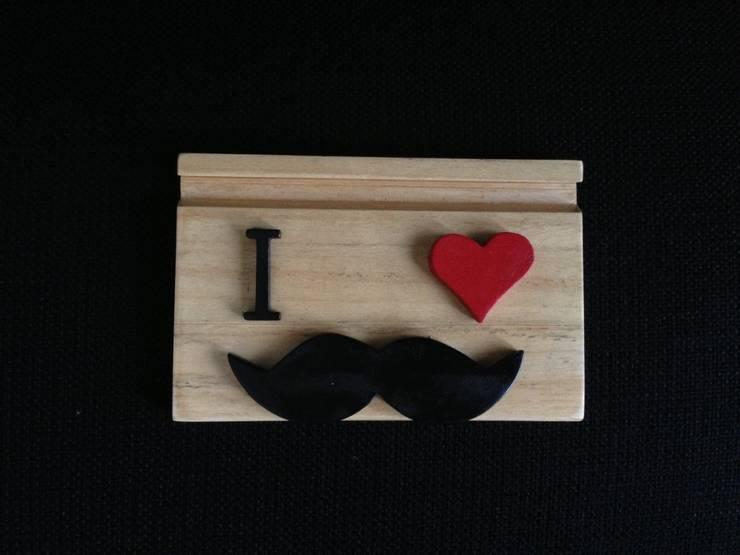 Marangoz Çırağı – I Love Moustache: endüstriyel tarz tarz Çalışma Odası