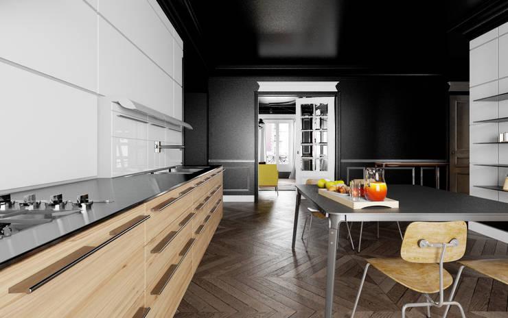 black baron haussmann: Cuisine de style de style Moderne par New Home Agency