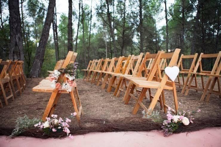 Boda campestre: Jardín de estilo  de GARCIA HERMANOS