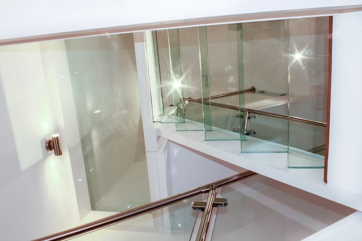 Interior House Remodelling, London E14:  Corridor, hallway & stairs by Nic  Antony Architects Ltd