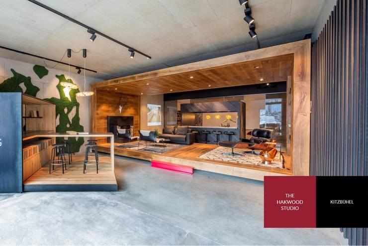 Hakwood Studio residential (living room):  Commercial Spaces by Hakwood   Great Flooring Stories