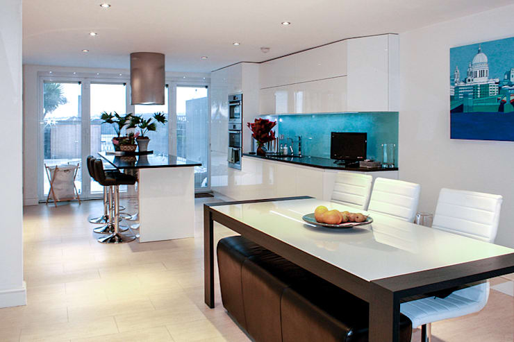 Interior House Remodelling, London E14:  Kitchen by Nic  Antony Architects Ltd