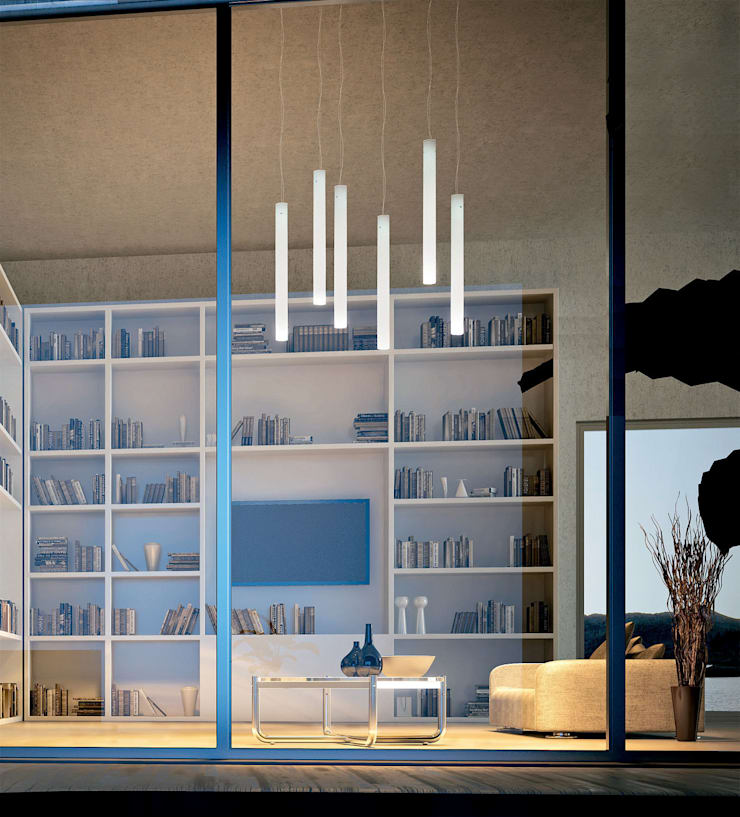 Candela de Vistosi, lámpara de techo: Hogar de estilo  de Ociohogar