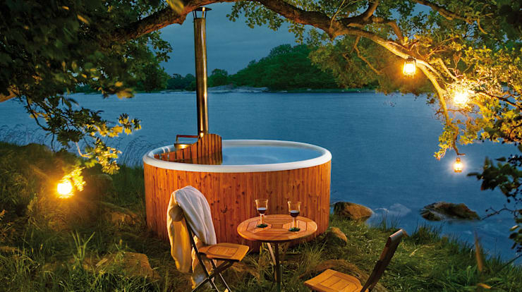 Piscinas de estilo  por Skargards Hot Tubs Deutschland
