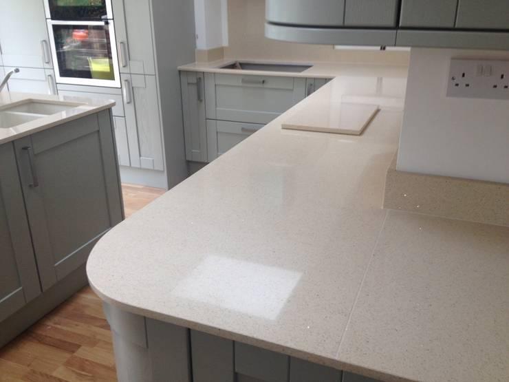 CimStone Sines Quartz Worktops:  Kitchen by Marbles Ltd