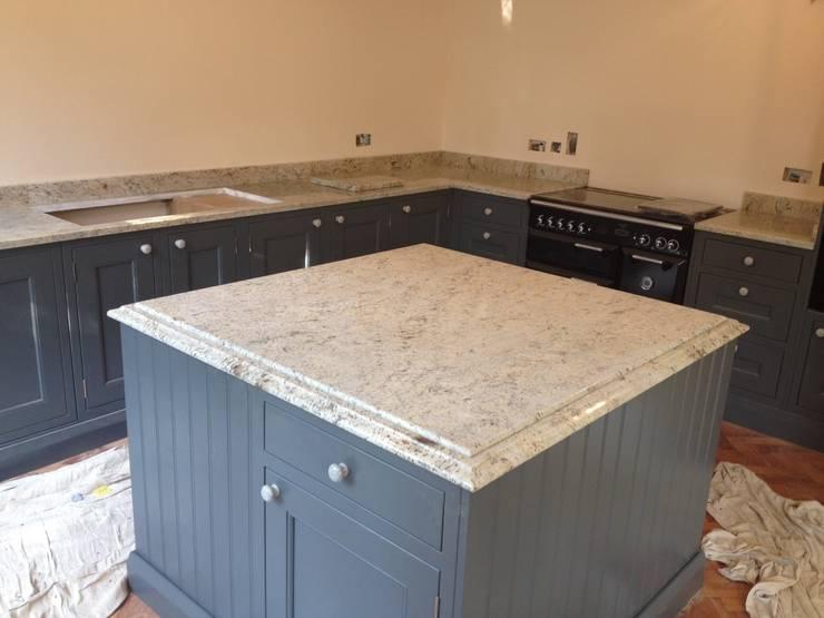 Shivakashi Yellow Granite Worktops:  Kitchen by Marbles Ltd