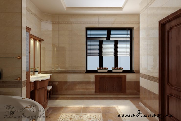 Дизайн ванной комнаты.: Ванные комнаты в . Автор – Цунёв_Дизайн. Студия интерьерных решений.