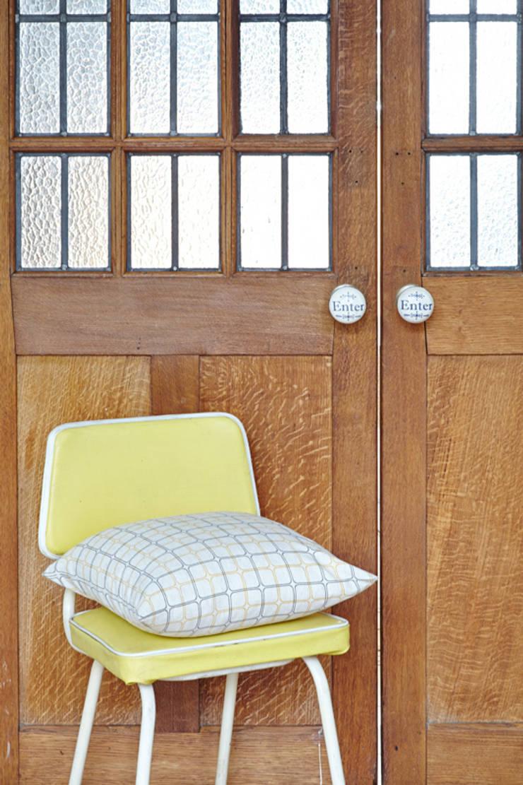 Hand screen printed cushions:  Household by akin & suri