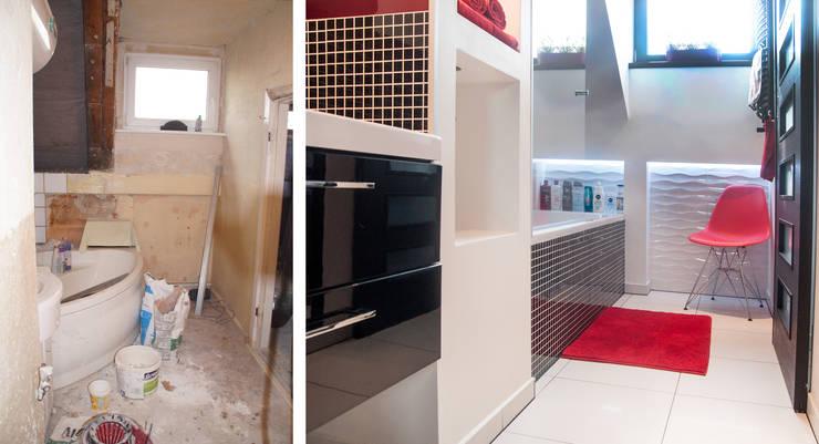 Metamorfoza łazienki - Margaretka: styl , w kategorii  zaprojektowany przez Ewa Weber - Pracownia Projektowa