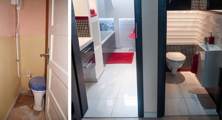 Metamorfoza łazienki: styl , w kategorii  zaprojektowany przez Ewa Weber - Pracownia Projektowa