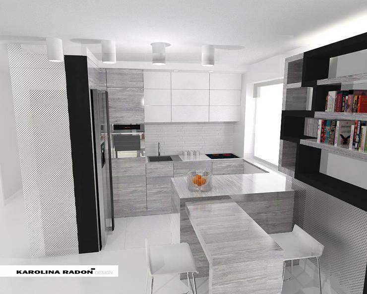 Saska Apartment: styl , w kategorii Kuchnia zaprojektowany przez Karolina Radoń Design